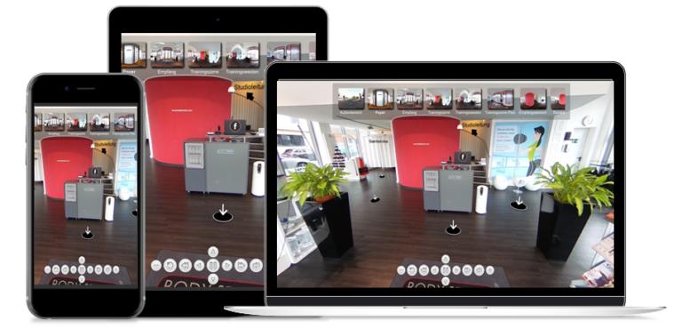 Virtuelle 360° Rundgänge für den Einsatz auf allen mobilen Endgeräten